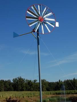 turbina na słupie + odciągi