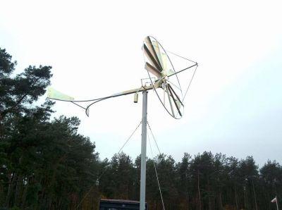 Wiatrak ocynkowany - instalacja w gminie Sochocin pod Płońskiem