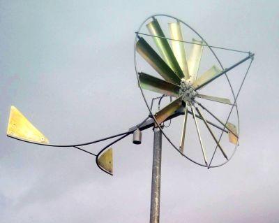 Wiatrak ocynkowany - instalacja w Kartuzach